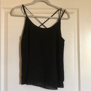 Tops - 💥2 for $10💥 crisscross back black camisole